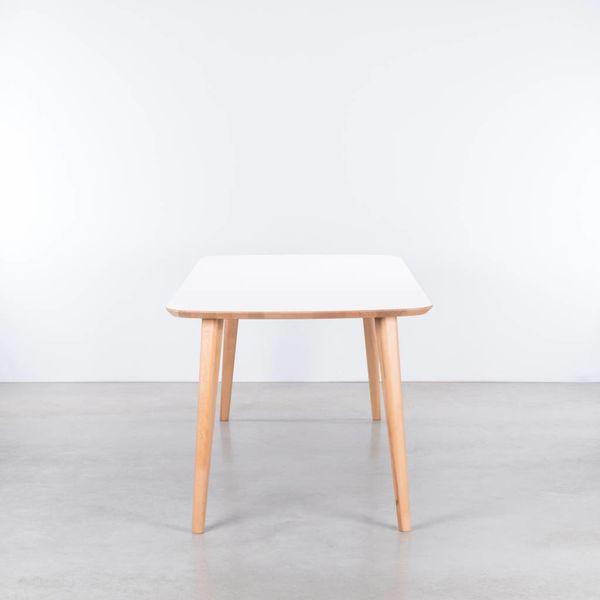 bSav & Okse Tomrer Tafel Wit Fenix Blad - Beuken Poten