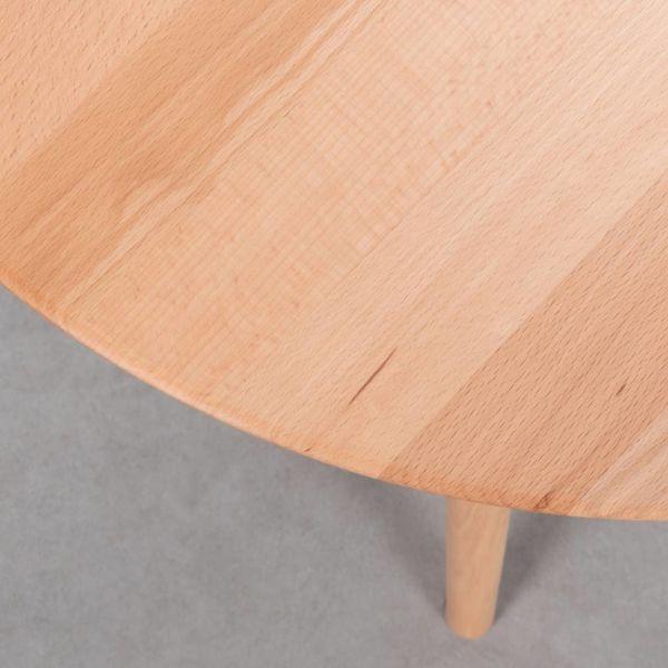 bSav & Okse Tomrer Coffee table Round Beech - 3 leg