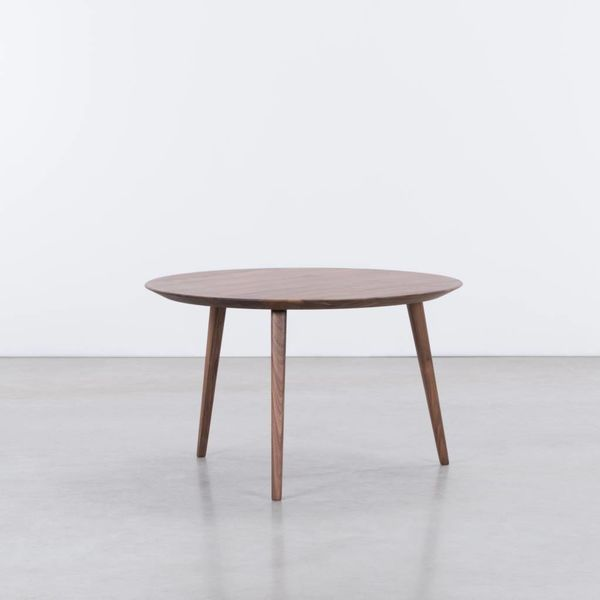 bSav & Okse Tomrer Coffee table Round 70 Walnut matt lacquered