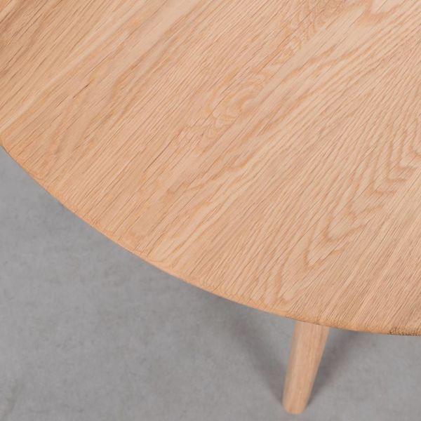 bSav & Okse Tomrer Coffee Table Round Oak - 3 Legs