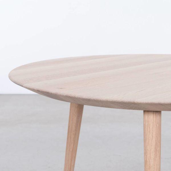 bSav & Okse Tomrer Coffee table Round Oak Whitewash - 3 Legs