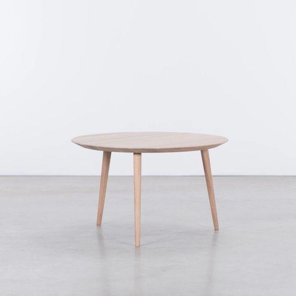 bSav & Økse Tomrer Coffee table Round Oak Whitewash - 3 Legs