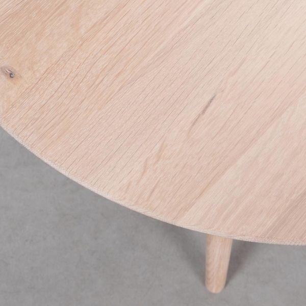 bSav & Okse Tomrer Coffee table Round Oak whitewash - leg 3