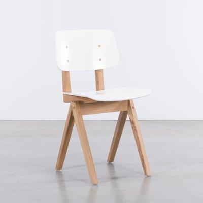S16H Stoel Eiken/wit