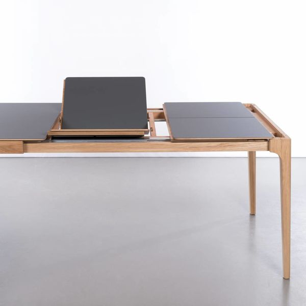 bSav & Okse Rikke Table Extendable Oak Whitewash With Fenix Top