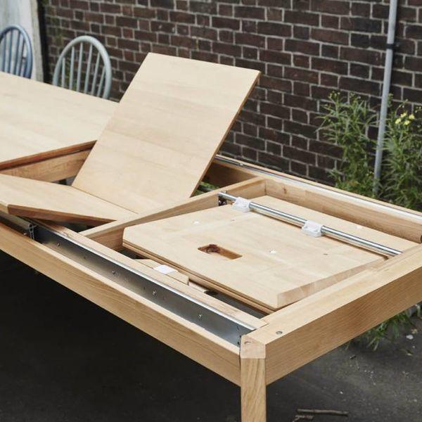 bSav & Økse Gunni table extendable oak whitewash