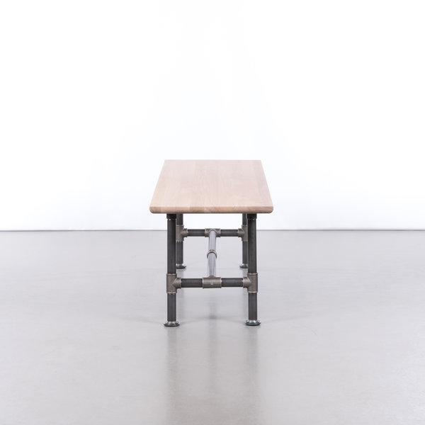 bSav & Økse Ditte Dining Table Bench Oak Whitewash