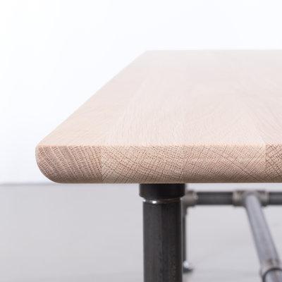 Sav & Økse Ditte Dining Table Bench Oak Whitewash