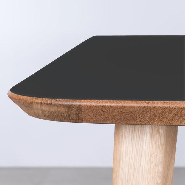 bSav & Økse Tomrer Tafel zwart Fenix blad - Eiken poten