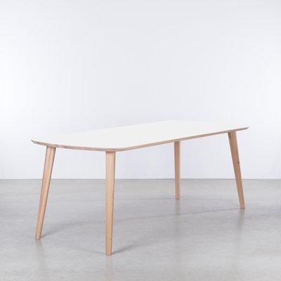 Sav & Økse Tomrer Table White Fenix top - Oak Whitewash legs