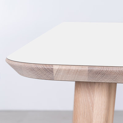 Sav & Okse Tomrer Table White Fenix top - Oak Whitewash legs