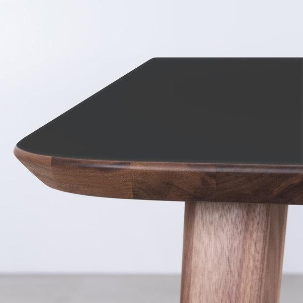 bSav & Okse Tomrer Tafel Zwart Fenix blad - Walnoot poten