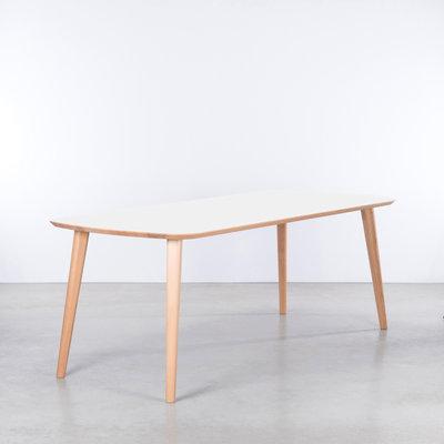 Sav & Økse Tomrer Table White Fenix Top - Beech Legs