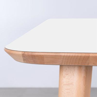 Sav & Okse Tomrer Table White Fenix Top - Beech Legs