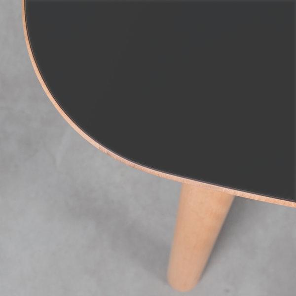 bSav & Okse Tomrer Tafel Zwart Fenix Blad -  Beuken Poten