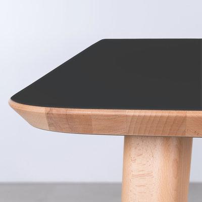 Sav & Okse Tomrer Tafel Zwart Fenix blad -  Beuken poten