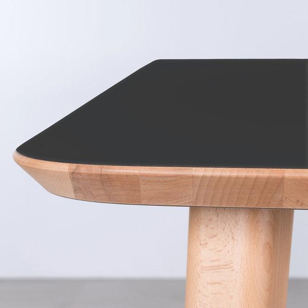 bSav & Okse Tomrer Table Black Fenix top - Beech legs