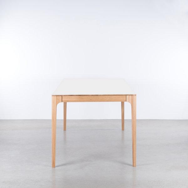 bSav & Okse Rikke Table white Fenix top - Oak legs