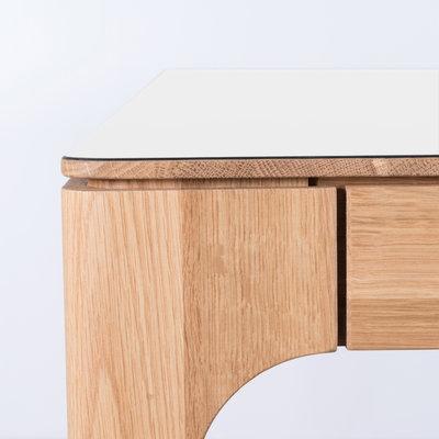 Sav & Økse Rikke Table White Fenix Top - Oak Legs