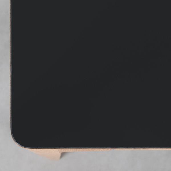 bSav & Okse Rikke Tafel zwart Fenix blad - Eiken poten