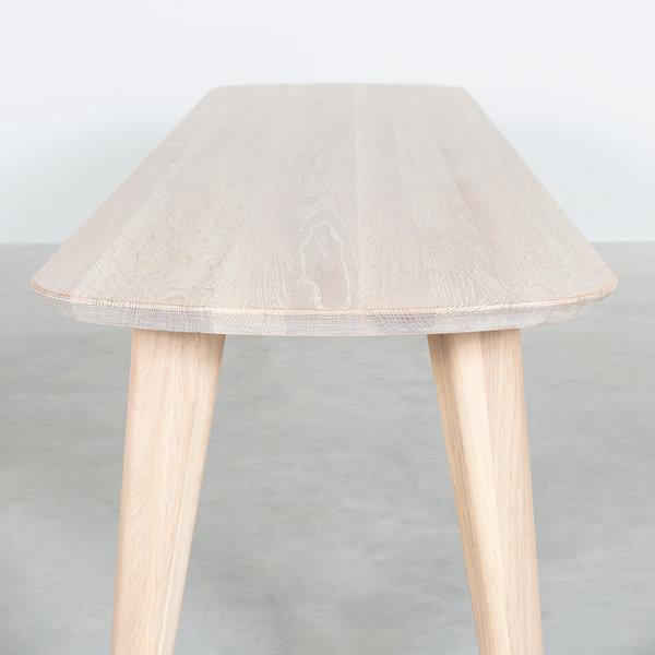 bSav & Okse Tomrer Dining table bench Oak Whitewash