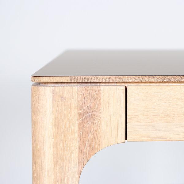 bSav & Okse Rikke Desk Oak whitewash with Fenix