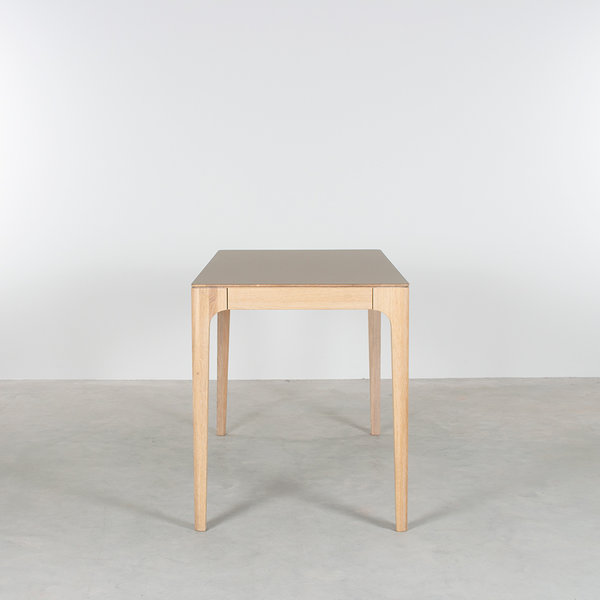 bSav & Økse Rikke Desk Oak Whitewash with Fenix