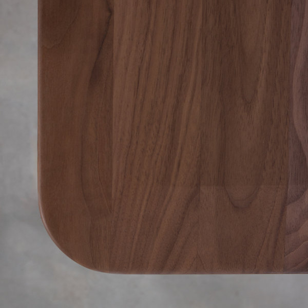 bSav & Okse Samt Stool Walnut