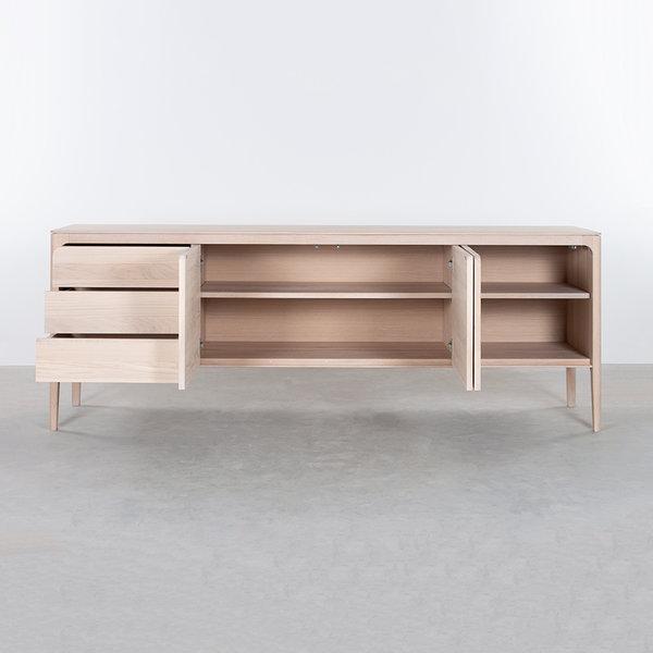 bSav & Økse Rikke Sideboard Oak Whitewash 3-compartment