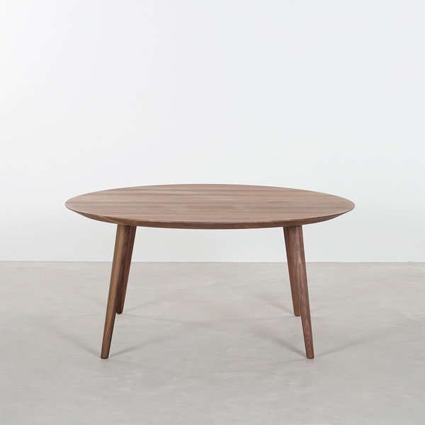 bSav & Okse Tomrer Coffee Table Round Walnut - 4 Legs