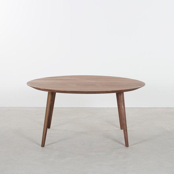 bSav & Okse Tomrer coffee table round Walnut with 4 legs