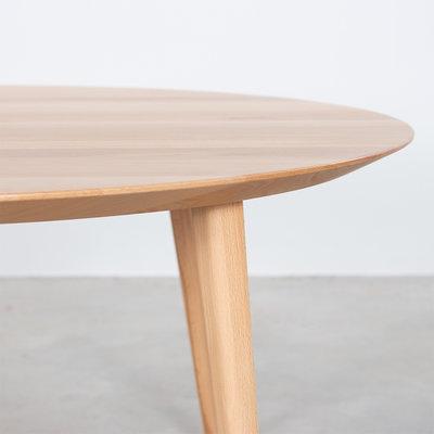Sav & Okse Tomrer coffee table round Beech - 4 legs