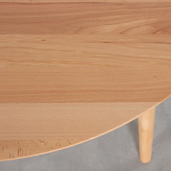 bSav & Okse Tomrer Coffee Table Round Beech - 4 Legs