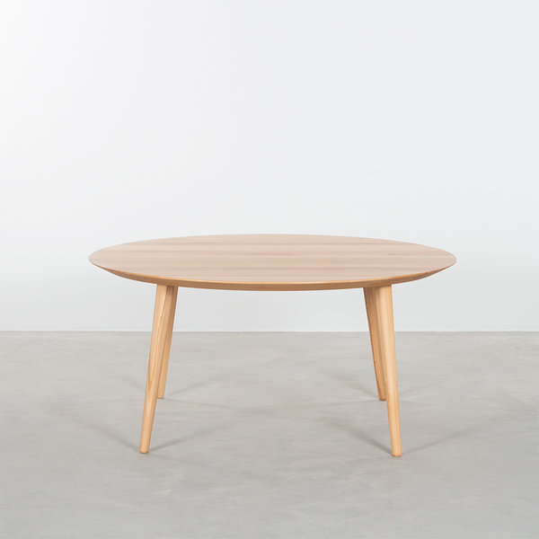 bSav & Okse Tomrer coffee table round Beech with 4 legs