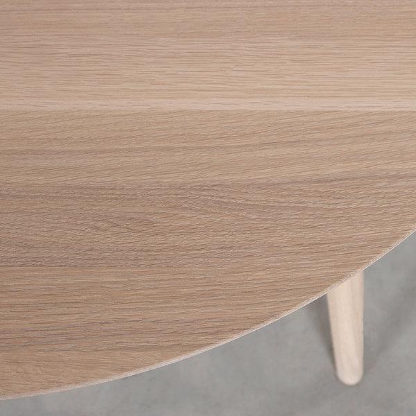 bSav & Okse Tomrer Coffee Table around Oak Whitewash with 4 legs