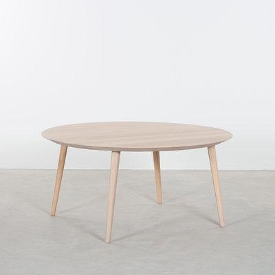 Sav & Økse Tomrer Coffee Table Round Oak Whitewash - 4 Legs
