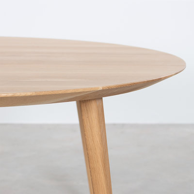 Sav & Okse Tomrer salontafel rond Eiken - 4 poten