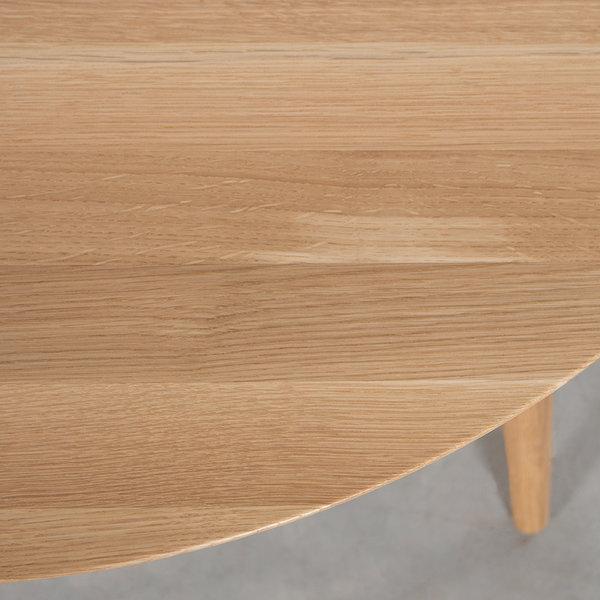 bSav & Okse Tomrer coffee table round Oak with 4 legs