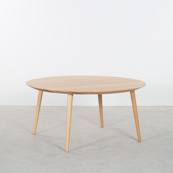 bSav & Okse Tomrer salontafel rond Eiken met 4 poten