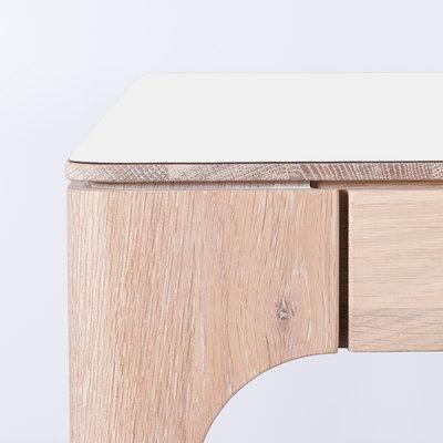 Sav & Økse Rikke Table White Fenix Top - Oak Whitewash Legs