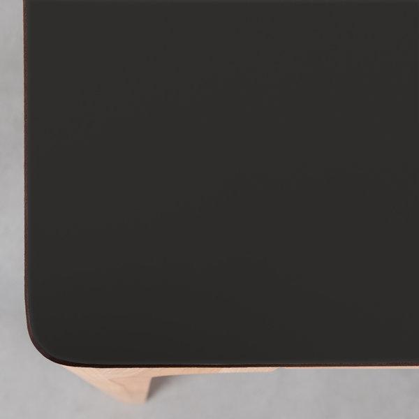 bSav & Økse Rikke Table Black Fenix Top - Beech Legs