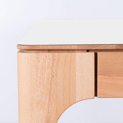 Sav & Økse Rikke Table White Fenix Top - Beech Legs
