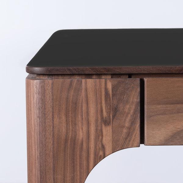 bSav & Økse Rikke Tafel Zwart Fenix Blad - Walnoot Poten