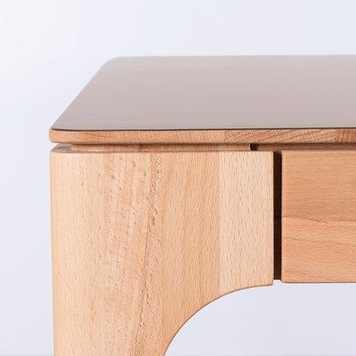 Sav & Okse Rikke Table Clay Gray Fenix Top - Beech Legs