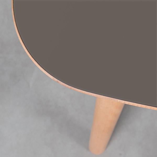 bSav & Økse Tomrer Table Gray Fenix Top - Beech Legs