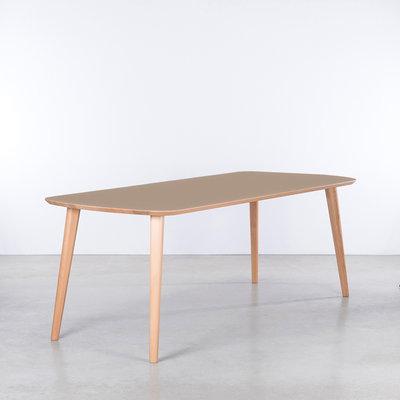 Sav & Økse Tomrer Table Clay Gray Fenix Top -  Beech legs