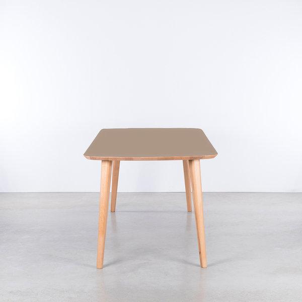 bSav & Okse Tomrer Table Clay Gray Fenix top - Beech Legs