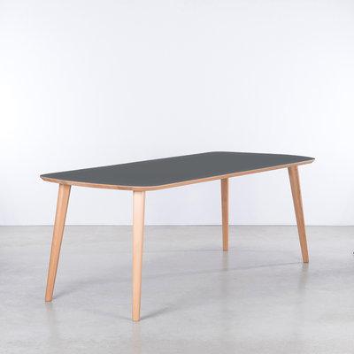 Sav & Økse Tomrer Table Basalt Gray Fenix Top - Beech Legs