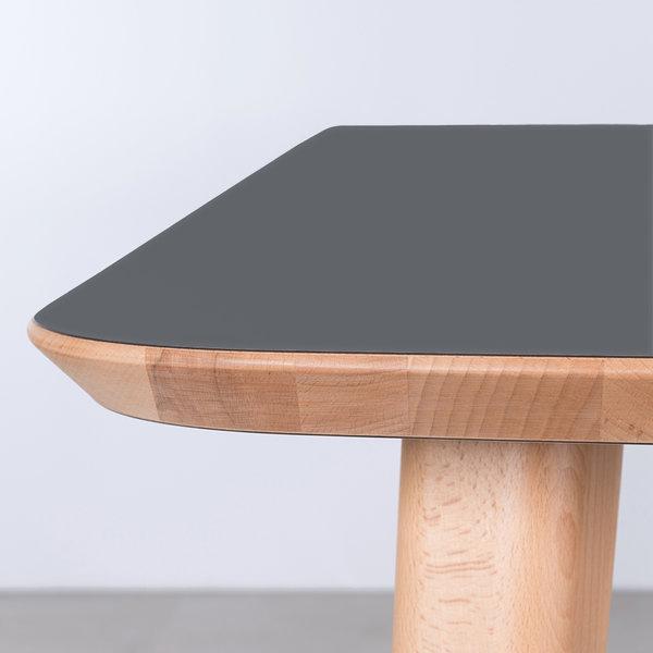 bSav & Økse Tomrer Tafel Basaltgrijs Fenix Blad - Beuken Poten