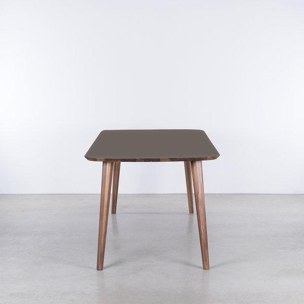 bSav & Okse Tomrer Table Gray Fenix Top - Walnut Legs
